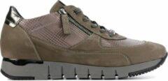 Taupe DL Sport Vrouwen Leren Sneakers - 4823 - 37