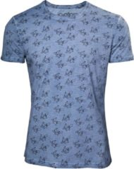 Difuzed Pok�mon - Pikachu heren unisex T-shirt met all over print blauw - 2XL