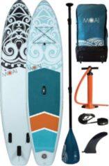Turquoise MOAI - 11'0 - Allround supboard - Opblaasbare supboard - SUPboard - Standup Paddleboard