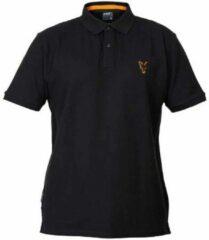 Oranje Fox Collection Black/Orange - Polo Shirt - Maat M - Zwart