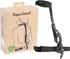 Zwarte VEGAN FETISH Vegan Hals en Armen Bondage Set