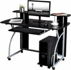 MIRA home MIRA - Computertafel op wielen | Verrijdbaar | Computer | Bureau | Computerdesk | Macbook | iBook | Laptop | Kantoor | Thuis | Zwart