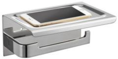 ADW Design Toiletrolhouder met Telefoonplankje Best Design 18x12 cm Chroom (zonder telefoon)