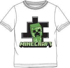 Witte Minecraft Merkloos / Sans marque Unisex T-shirt Maat 152