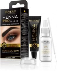Zwarte REVERS® Eyebrow Henna Pro Colours Black 15ml.+15ml.