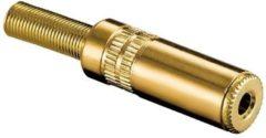 Gouden Valueline 3,5mm Jack (v) connector - metaal verguld - 3-polig / stereo