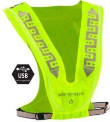 Bee seen Led Vest USB | Lime | hardloopvest | usb| runningvest | verlicht vest | hardlopen