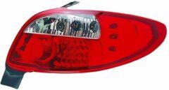 AutoStyle Set LED Achterlichten passend voor Peugeot 206 excl. CC/SW - Rood/Helder