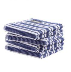 Blauwe DDDDD vaatdoek Classic Clean classic blue (30 x 30 cm) per 4 stuks