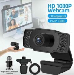 Zwarte Indena U9 Webcam 1080P High Definition HD Computer USB Webcamera Conferentie Video Thuis