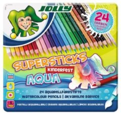 Jolly Supersticks Aqua Aquarelpotloden 24 stuks