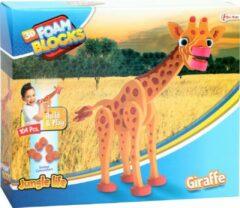 Rode Stemen Giraffe 3D puzzel van foam   Giraffe Puzzel