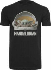 Zwarte Merchcode Star Wars - Mandalorian - Baby Yoda Streetwear - Casual - Modern - Legend - Urban Heren T-shirt Maat S