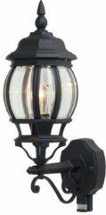 Zwarte Brilliant Istria - Buitenlamp wand met sensor