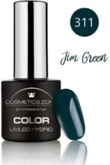 Cosmetics Zone UV/LED Hybrid Gel Nagellak 7ml. Jim groen 311