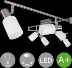 Wohnling 6-flammiger LED-Strahler Warmweiß EEK A+ inkl. 6x4 Watt Leuchtmittel Deckenlampe IP20 Fassung E14 LED Diele Flur Deckenleuchte Spots Wohnzi