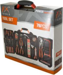 Zwarte FX Tools 76-delig - Gereedschapskoffer - Set - Inclusief gereedschap