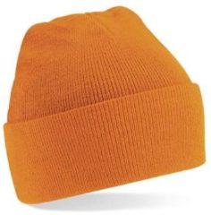 Oranje Merkloos beechfield original cuffed beanie orange