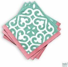 Fuchsia Servetten papier/papieren servetten Windy Hill Pep 240 stuks (12*20)