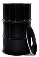 BinBin Industriële prullenbak zwart 120 Liter met gat in deksel