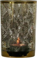 Mars & More Waxinelichthouder Slang Goudkleurig (18 x 12 cm)