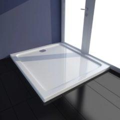 VidaXL Piatto doccia rettangolare in ABS bianco 80 x 90 cm