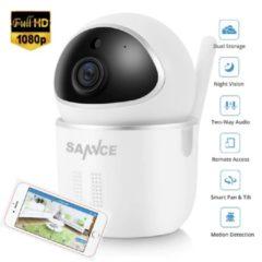 Witte SANNCE FULLHD 1080p IP Camera Nachtzicht Met IR Filter Binnen 2MP Draadloze CCTV Bewakingscamera Baby Monitor Babyfoon