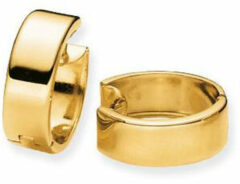 Gold Collection Gouden klapcreolen Glanzend Vierkante buis - 15 mm 207.0049.15