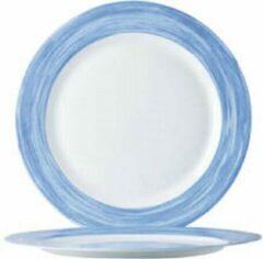 Arcoroc Brush - Dessertborden - Blauw - 19cm - (Set van 6) En Yourkitchen E-kookboek - Heerlijke Smulrecepten