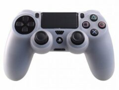 Merkloos / Sans marque Silicone Beschermhoes voor PS4 Controller - Cover Skin Transparant