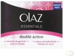 Olaz Essentials Nachtcreme Double Action Voordeelverpakking