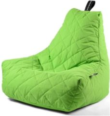 Extreme Lounging b-bag - Luxe zitzak - Indoor en outdoor - Waterafstotend - 95 x 95 x 90 cm - Polyester - Quilted Limegroen