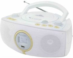Witte Soundmaster SCD1500WE Draagbaar Analoog & digitaal Wit radio