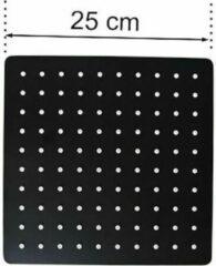 Excellent Wellness Regendouchekop - Mat Zwart - Vierkant - 25 cm