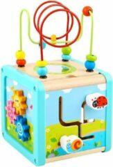 Tooky Toy Kralenframe Cube Junior 15,5 X 28 Cm Blauw 5-delig