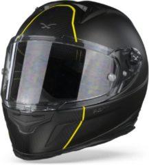 Zwarte Nexx X.R2 Dark Division Metal Black Carbon Matt Integraalhelm - Motorhelm - Maat S