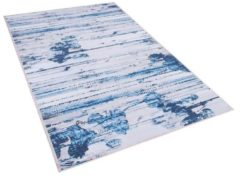 Beliani BURDUR Vloerkleed Blauw Polyester 80 x 150 cm