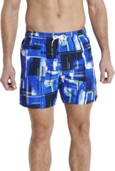 Donkerblauwe Speedo SILVERBEACH PRINTED CHECK LEISURE 16 WATERSHORTS - Maat S