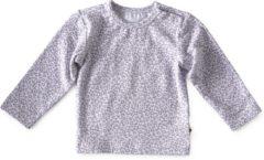 Little Label - baby - shirt - grijs, luipaard - maat 80 - bio-katoen