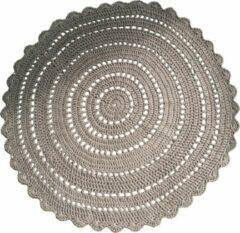 Woon by Moon Rond gehaakt vloerkleed - Bruin - Katoen - 96 centimeter