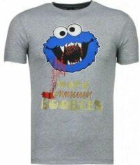 Grijze T-shirt Korte Mouw Mascherano Cookies - T-shirt