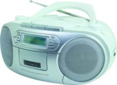 Soundmaster SCD7900 CD-MP3 Boombox mit DAB+/UKW Radio und USB, versch. Farben Farbe: Weiss