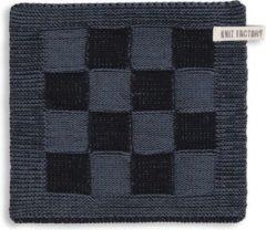 Knit Factory Pannenlap Block - Zwart/Granit
