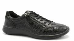 Zwarte Geklede Sneakers met Slangenprint ECCO Soft 5.0