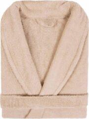 Badjas Badstof Uni Pure Royal met Shawlkraag Beige Zand col 2610 Maat M