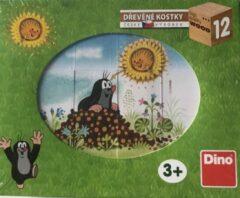 """Dino Houten kubuspuzzel 12pcs """"molletje"""" seizoenen"""