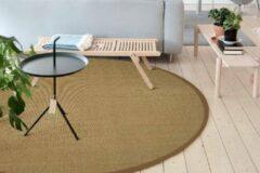 Oranje Floorpassion Premium 15 - Rond sisal vloerkleed met fijn geweven structuur