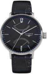 Zwarte Elysee Horloge 13276 - 42 mm - Zilverkleurig - Automaat