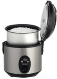 Zilveren Solis Rijstkoker Compact 821 - Zilver