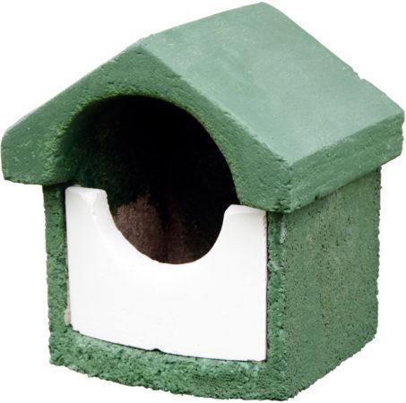 Afbeelding van Vogelbescherming CJ Wildlife Nestkast houtbeton klein model halfholenbroeders groen